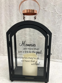 Memories Lantern - Black & Copper