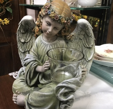 Angel with Candle Cup for Votive Candle
